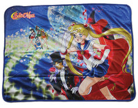 Sailor Moon: Sailor Guardians & Tuxedo Mask Sublimation Throw Blanket