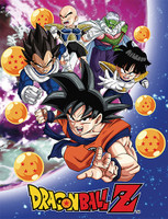 Dragon Ball Z: Z Warriors Group in Sky Sublimation Throw Blanket