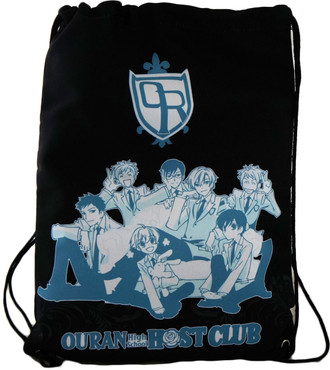 Ouran High School Host Club: Group Black Drawstring Bag