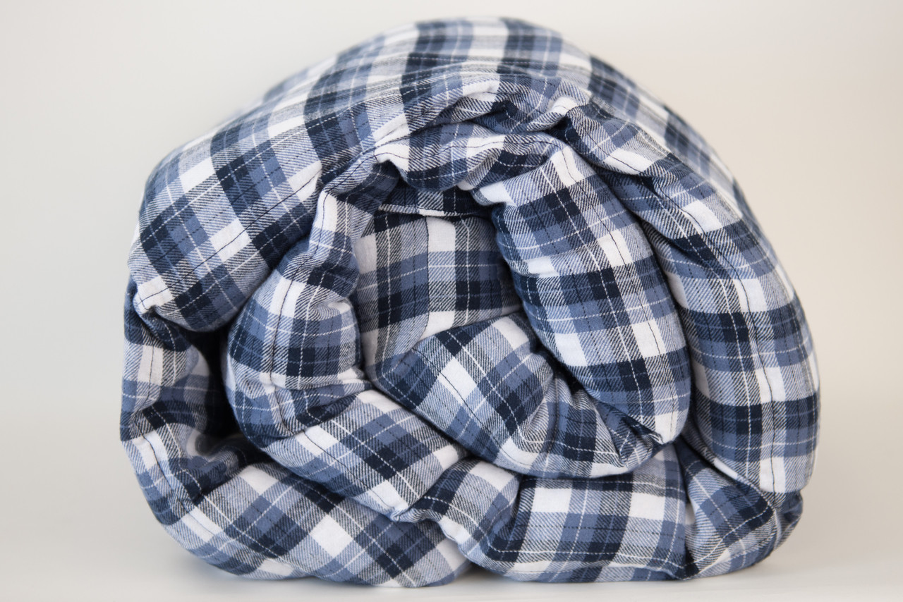 Brushed Denim Cotton Weighted Blanket