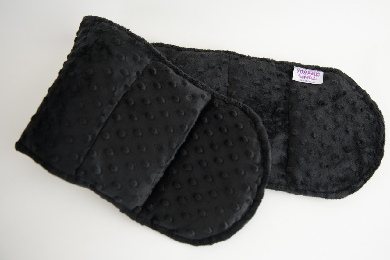 Black Minky Weighted Shoulder Wrap