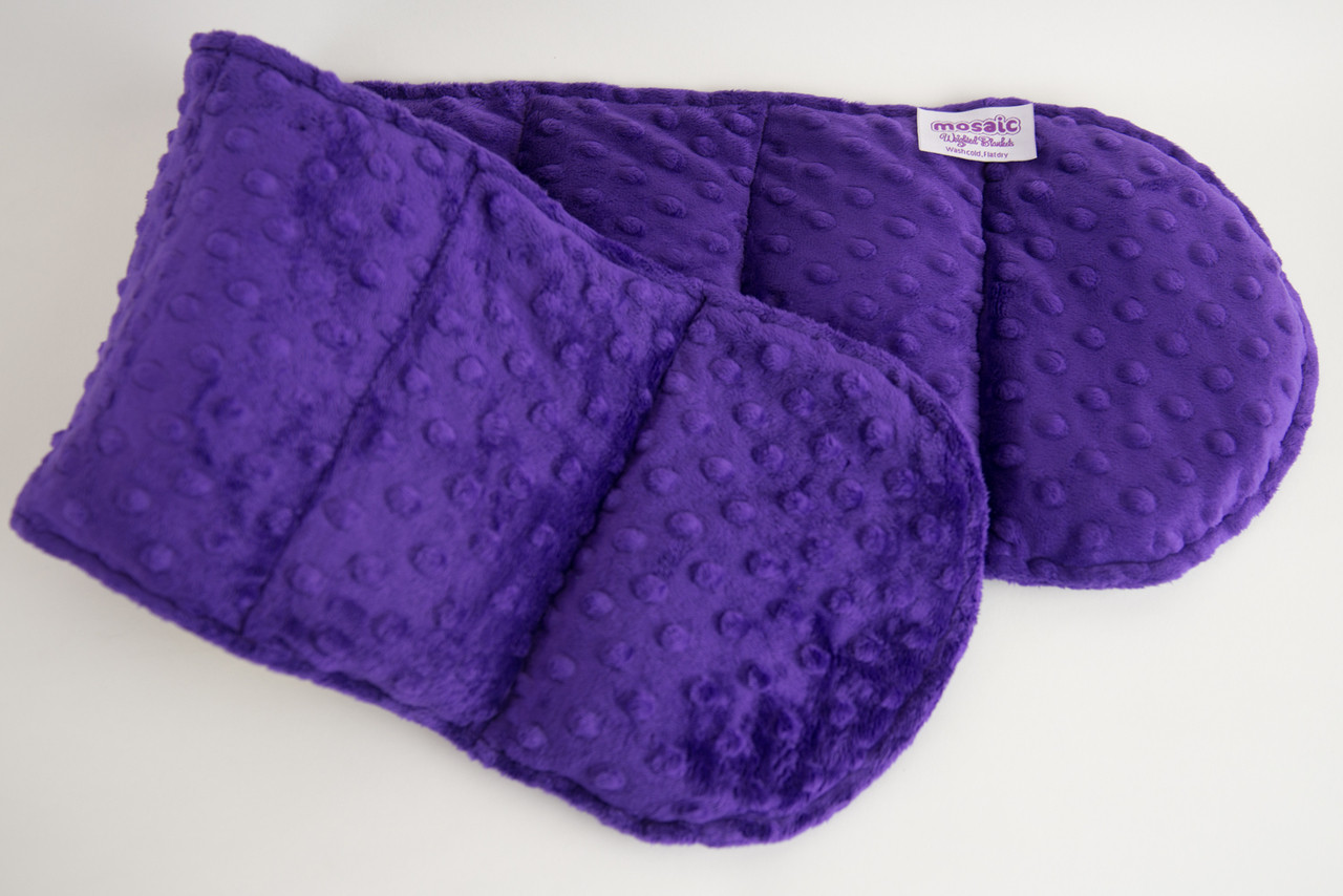 Purple Minky Weighted Shoulder Wrap