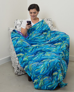 """Starry Night Cotton Weighted Blanket 42X72"""""""