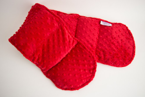 Red Minky Weighted Shoulder Wrap 3.5 lbs
