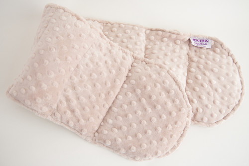 Cream Minky Weighted Shoulder Wrap 3.5 lbs