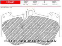 Ferodo DS2500 Front Brake Pad Set (FCP4467H)