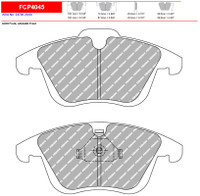 Ferodo DS2500 Front Brake Pad Set (FCP4045H)