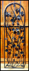"Artistic Grapevine Iron Wine Cellar Door 24"" X 80"""