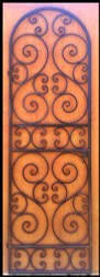 Tall Scalloped Scroll Iron Wine Cellar Door or Garden Gate 8 feet tall