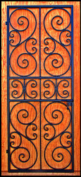 "Scalloped Scroll Iron Wine Cellar Door or Gate 32"" X 80"""