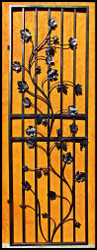 Charlotte Grapevine Iron Wine Cellar Door - for 66 inch tall doorway