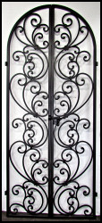 "Ready to Ship! Tuscany Style Wrought Iron Wine Cellar Double Door 36"" by 86"" - Ready to Ship!"