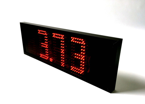 """7"""" Battery Powered LED Sign.  Wirelessly display weight from scale"""