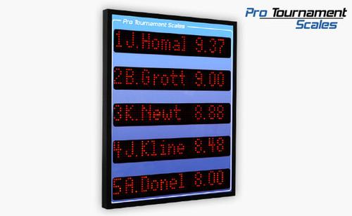 "Alpha-Numeric 5-Line Leaderboard Scoreboard (2"" Tall Characters)"