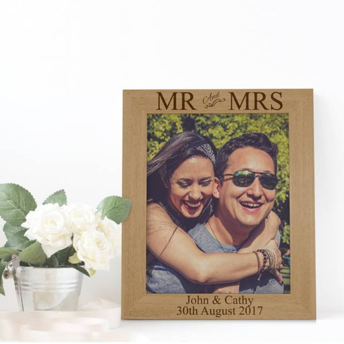 Personalised Mr Mrs Photo Frame Mjgiftshopcom