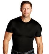 InstaSlim Men's Crew Neck Slimming T-Shirt - Black