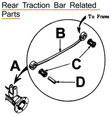 Radius Rod, Rear Axle (Traction Bar) Avanti & Hawk