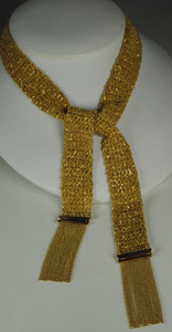 Fantastic 14kt Gold Scarf Necklace
