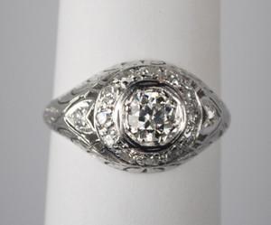 .50 Carat Platinum and Diamond Edwardian Engagement Ring