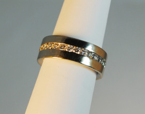 14kt White Gold Modern Eternity Band 1.40 carats
