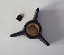 Water Pump Impeller & Key - 35 Jet to 50 hp - 1989 to 1998 - Johnson Evinrude - OMC 432941, 437059 - Sierra 18-3104