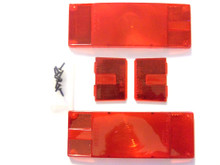 """Taillight and Clearance Light Replacement Lens Set - Wesbar 403336 - Over 80"""" - Waterproof - Low Profile - View 1"""
