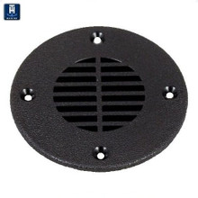 """Floor Drain and Vent Cover for Deck Drains or Ventilation - TH Marine FD-2-DP - Fits 2 1/2"""" Opening - Choice of Black or White - View 1"""