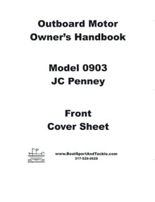 Eska JC Penney Owner's Manual - Model 0903 - 7.5 hp - Includes Parts List and Diagrams