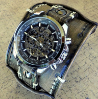 Distressed Black Men's Watch