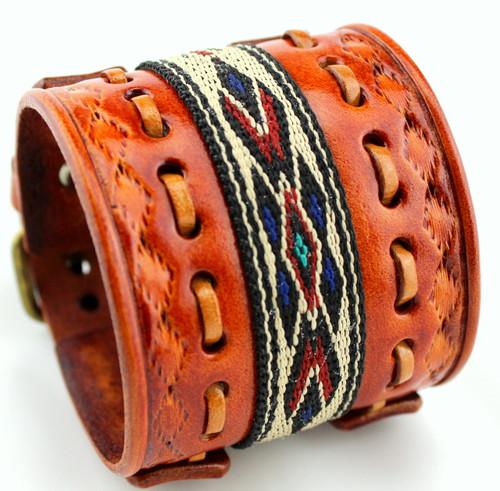 Women's Leather Cuff - Native American Bracelet