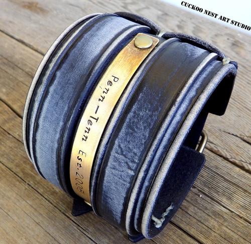 Customizable Leather Cuff
