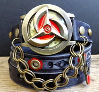 Red and Black Wrap Watch