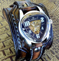 Aged Brown Skeleton Watch