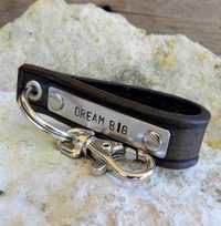 Dream Big Hand Stamped Keychain
