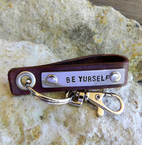 Be Yourself Hand Stamped Keychain