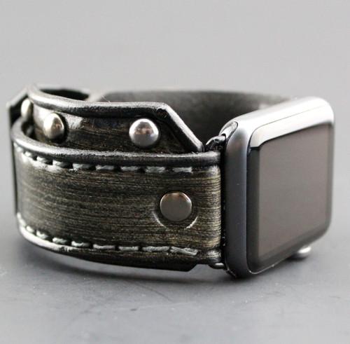 Gray Studded Apple Watch Band