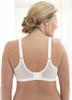 Glamorise Magic-Lift Floral Jacquard Fabric Support Bra - Back View