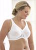 Glamorise Magic-Lift Floral Jacquard Fabric Support Bra White
