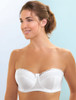 Glamorise Strapless Underwire 5-Way Convertible Straps Bra White