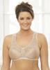 Glamorise Soft-Shoulders X-Wide Straps Modesty-Lined Bra Cafe