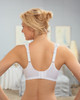 Glamorise Soft-Shoulders X-Wide Straps Modesty-Lined Bra - Back View