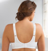 Glamorise Classic Lace Full-Figure Soft Cup Support Bra White - Back View