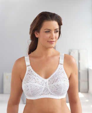 Glamorise Classic Lace Full-Figure Soft Cup Support Bra ...