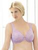 Glamorise Elegance Wonderwire Underwire Lace Side-Smoothing Bra Violet