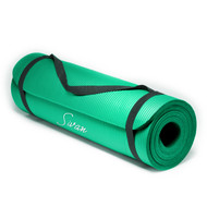 Sivan Health and Fitness 1/2-Inch Extra Thick 71-Inch Long NBR Comfort Foam Yoga Mat (Green)