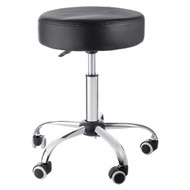 Sivan Health and Fitness Adjustable Rolling Stool For Massage Tables, Doctor's Clinics and Examination Tables (Black)