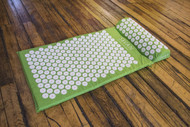 Sivan Health and Fitness Health and Fitness®Acupressure Mat and Pillow Set for Lower, Upper, Mid, Chronic Back Pain Treatment, Pillow, Therapy, Reliever - Relieve Your Stress, Back, Neck, and Sciatic Pain (Green)