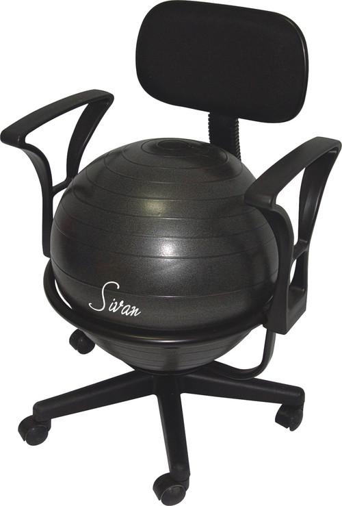 sivan health and fitness adjustable back balance ball chair with arm