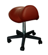 Sivan Health and Fitness Rolling Saddle Massage Stool with Hydraulic Adjustable Controls (Chocolate)