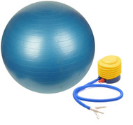 Sivan Health and Fitness Burst Resistant Yoga Exercise Fitness Pilates Stability Ball with Pump 65cm Blue